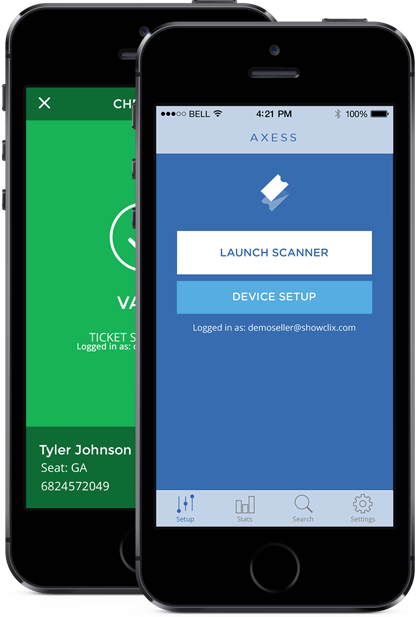 iOS ticket scanner app